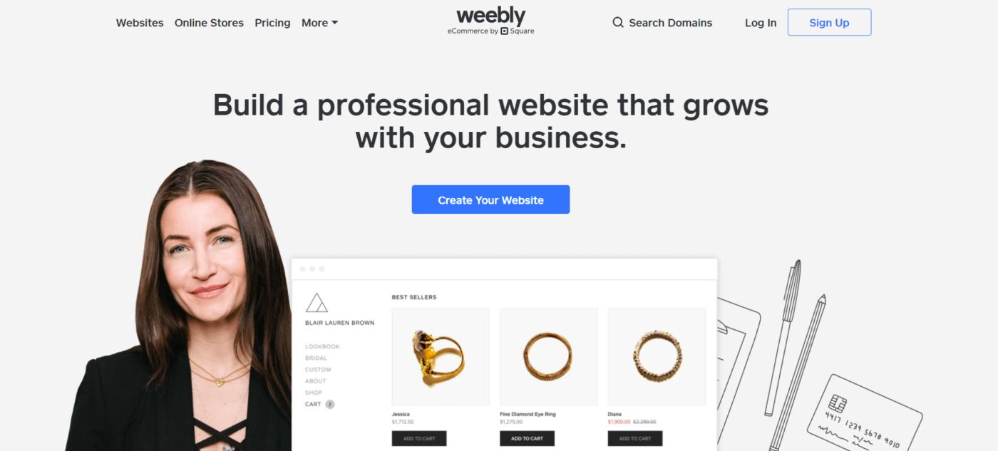 Weebly web designing software