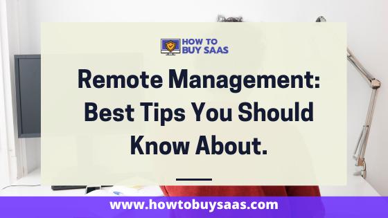 remote management tips
