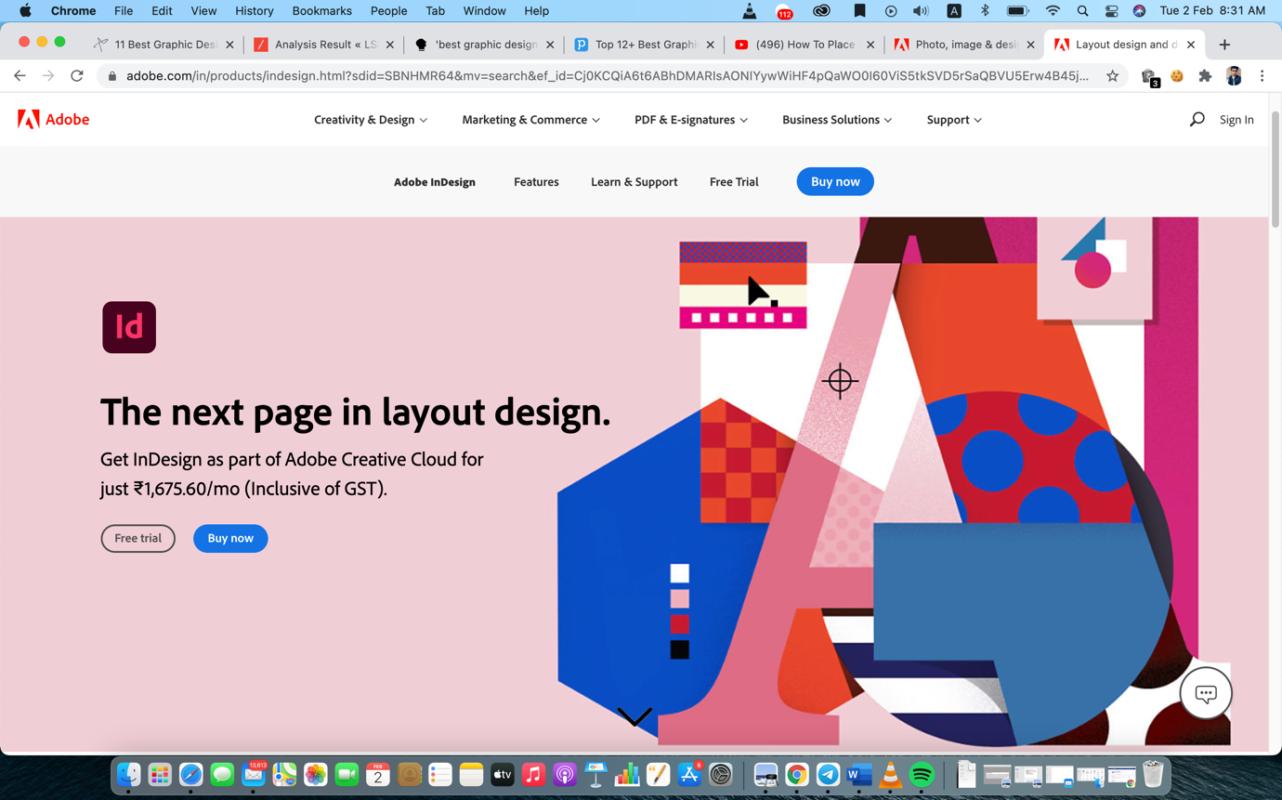 adobe indesign graphic design software