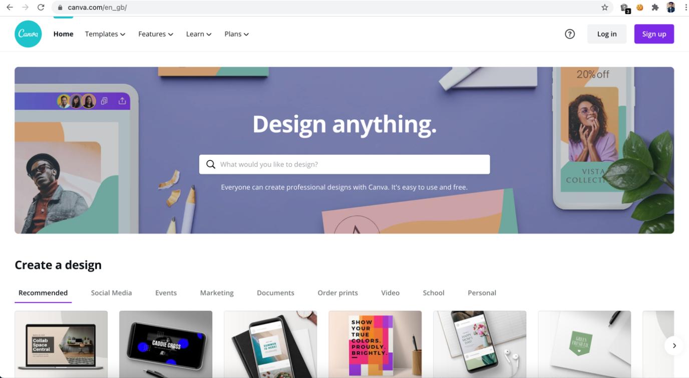 canva graphics design software