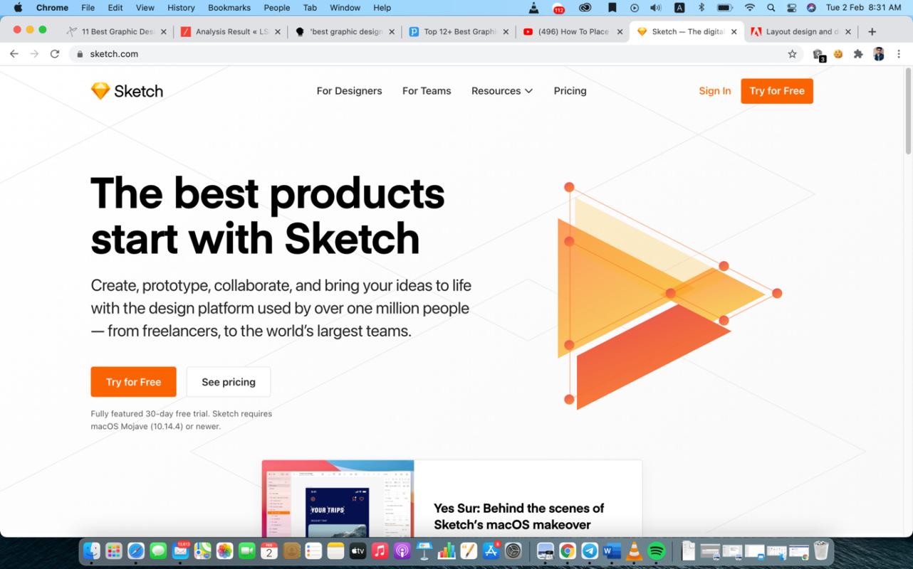 sketch graphic design software