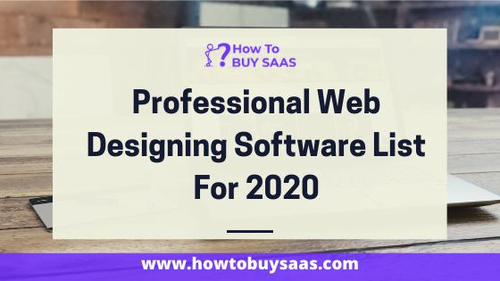 web designing software list