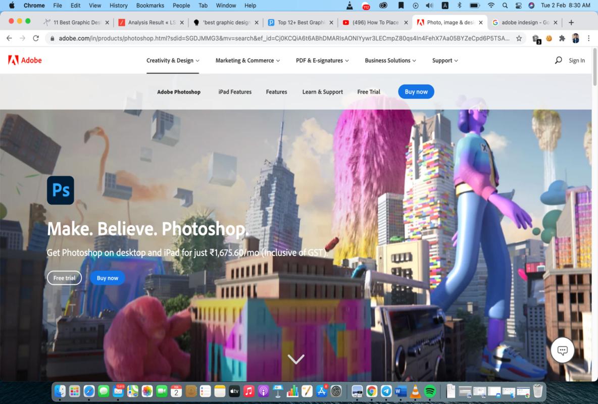adobe photoshop graphic design software