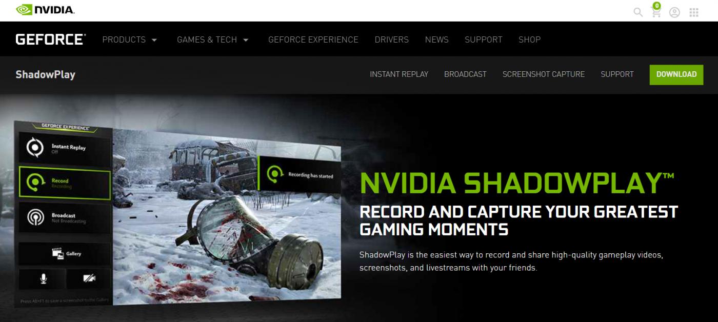 nvidia shadowplay live streaming software