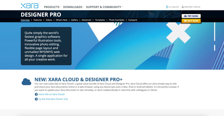 xara designer software